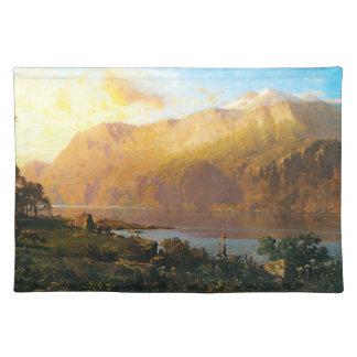 Lago esmeralda cerca de Tahoe Manteles Individuales