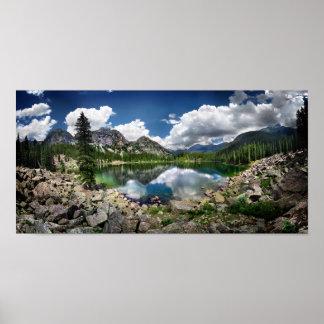 Lago esmeralda - desierto de Weminuche - Colorado Póster
