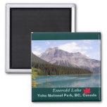 Lago esmeralda/parque nacional de Yoho, Canadá Imán De Nevera
