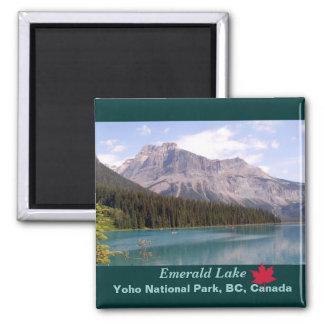 Lago esmeralda parque nacional de Yoho Canadá Imán De Nevera