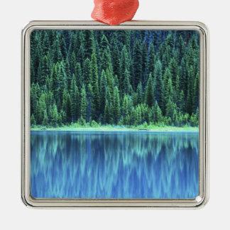 Lago esmeralda, Yoho NP, A.C., Canadá Adorno Cuadrado Plateado