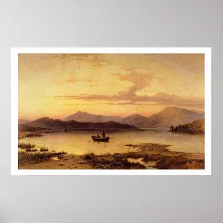 Lago Etive, de Bonawe - tarde, 1875 (aceite en el  Póster