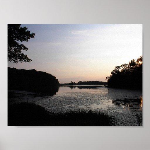 Lago evening impresiones