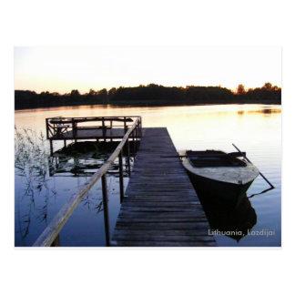 Lago evening tarjetas postales