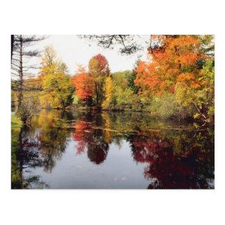 Lago fall tarjetas postales