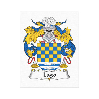 Lago Family Crest Canvas Print
