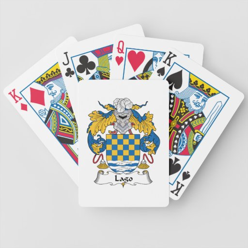 Lago Family Crest Bicycle Card Deck