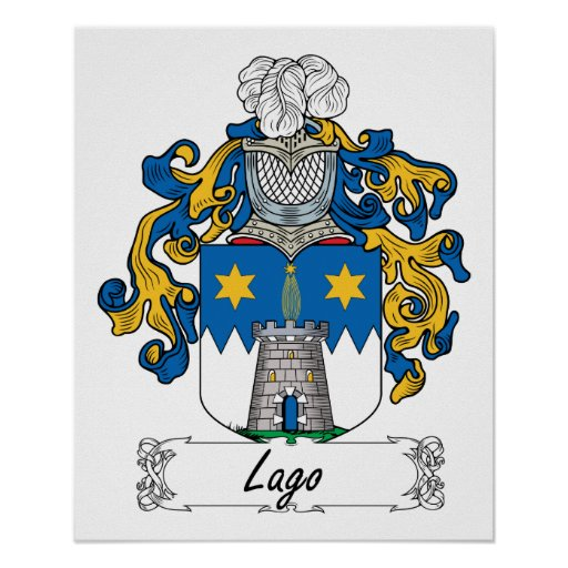 Lago Family Crest Poster