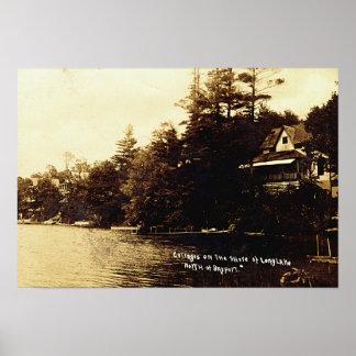Lago Fenton Bayport Michigan Poster