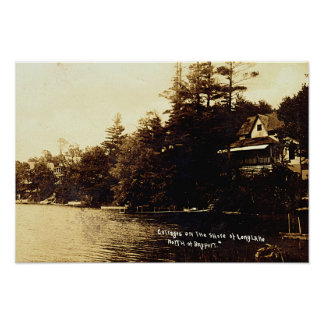Lago Fenton Bayport Michigan Póster
