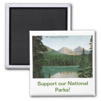 Lago fern parque de Estes vintage de Colorado Imanes Para Frigoríficos