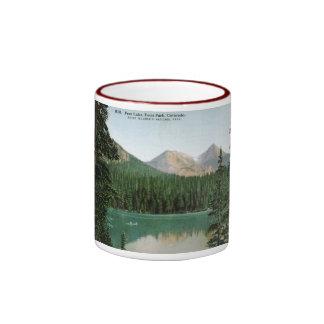 Lago fern, parque de Estes, vintage de Colorado Tazas