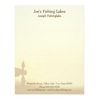 Lago fishing plantillas de membrete