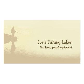 Lago fishing tarjetas de visita