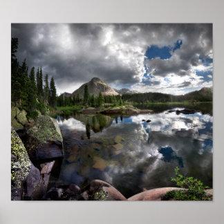 Lago flint - desierto de Weminuche - Colora Póster