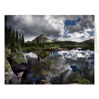 Lago flint - desierto de Weminuche - Colora Tarjeta De Felicitación Grande