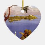 Lago Garda Adorno Navideño De Cerámica En Forma De Corazón