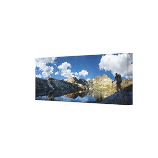 Lago garnet y pico 2 de la bandera - rastro de impresión en lienzo