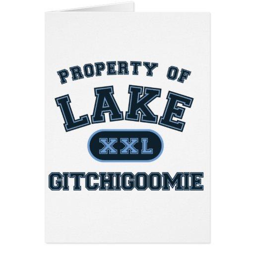 Lago Gitchigoomie Tarjeta De Felicitación