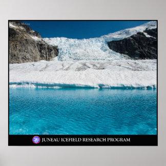 Lago glacial estupendo debajo del Vaughn Lewis Ice Póster