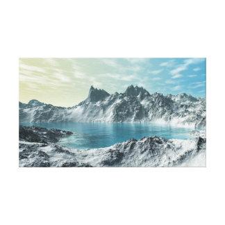 Lago glacial lona envuelta para galerías