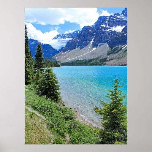 Lago glacial póster