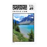 Lago glacial timbres postales