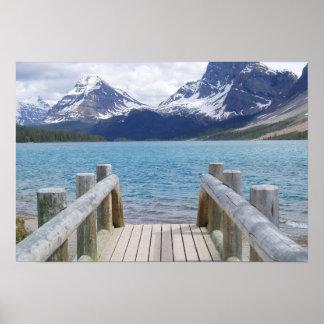 Lago glacier del arco, AB, Canadá Póster