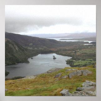 Lago Glanmore del paso Irlanda de Healy Poster