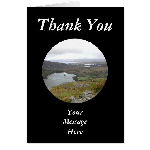 Lago Glanmore del paso Irlanda de Healy. Redondo Felicitacion