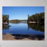 Lago grande sebago, Maine Posters