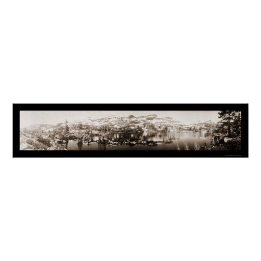 Lago grass cerca de la foto 1906 de Tahoe Impresiones