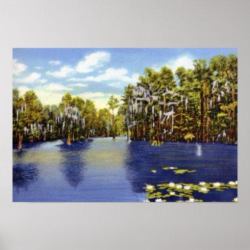 Lago greenfield de Wilmington Carolina del Norte Impresiones
