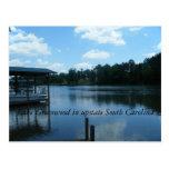 Lago Greenwood3, lago Bosque verde en upstate Sout Postales