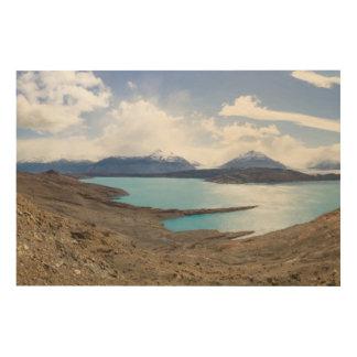 Lago Guillermo y glaciar de Upsala Impresión En Madera