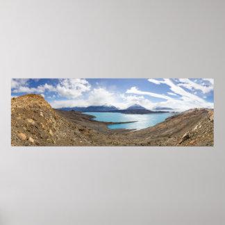 Lago Guillermo y glaciar de Upsala Póster
