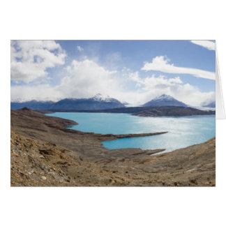 Lago Guillermo y glaciar de Upsala Tarjeta De Felicitación
