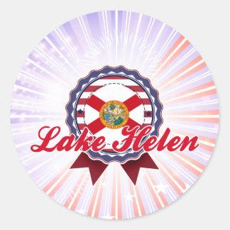 Lago Helen, FL Etiqueta Redonda