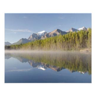 Lago herbert en la ruta verde Alberta Canadá de Ic Tarjetones