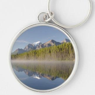 Lago herbert en la ruta verde Alberta Canadá de Llavero Redondo Plateado
