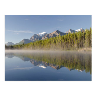 Lago herbert en la ruta verde Alberta Canadá de Postal