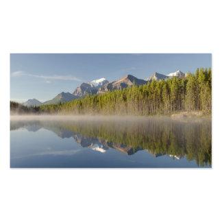 Lago herbert en la ruta verde Alberta Canadá de Tarjetas De Visita