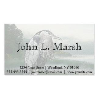 Lago heron tarjetas de visita
