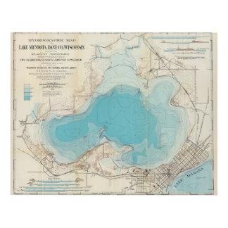 Lago hidrográfico Mendota del mapa