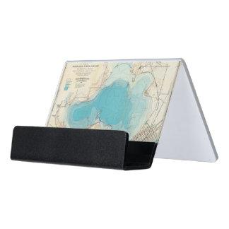 Lago hidrográfico Mendota del mapa Caja De Tarjetas De Visita Para Escritorio