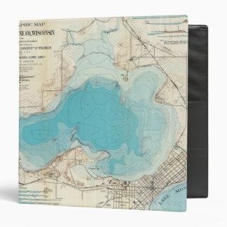 """Lago hidrográfico Mendota del mapa Carpeta 1 1/2"""""""