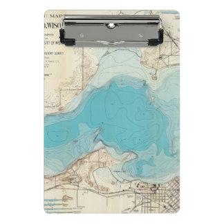 Lago hidrográfico Mendota del mapa Minicarpeta De Pinza