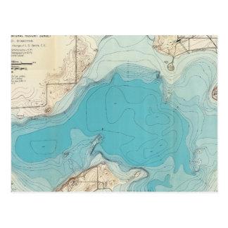 Lago hidrográfico Mendota del mapa Postal