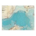 Lago hidrográfico Mendota del mapa Tarjetas Postales