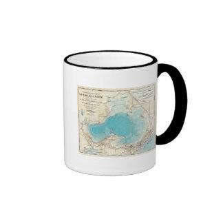Lago hidrográfico Mendota del mapa Taza De Café